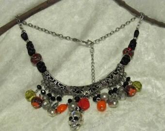 Halloween Beaded Charm necklace