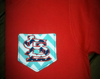 Custom Appliqued Pocket Tee (more than just a monogram!)