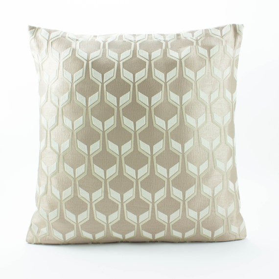 Taupe Silk PillowDecorative Throw pillow cover 16x16 by Fabricasia