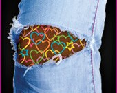 Hearts for your sweetheart -- easy to apply and the Tat Patch peeks through the hole