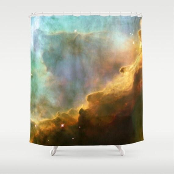 Shower Curtain - Bright nebula galaxy stars sagittarius constellation ...