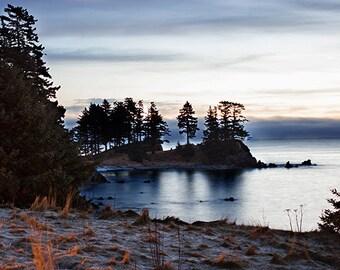 Scenic Sunrise Photograph, Sunrise Photography, Ocean Photography, Sunrise Photo, Fine Art Photography, Alaska Photo Print 4x6-24x36