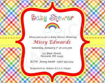 rainbow baby shower invitation rainbow baby shower invite rainbow