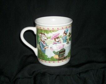 Darling Tea Time 1970s ALICE IN WONDERLAND Hallmark Cup, All Animals