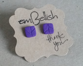 Polymer Clay Square Studs