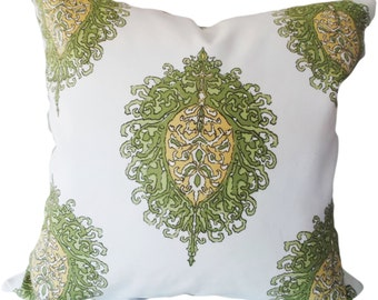 Duralee Medallion Westminster Leaf Decorative Pillow Cover - Alfred Shaheen - Throw Pillow - Both Sides - 14x24, 18x18, 20x20, 22x22