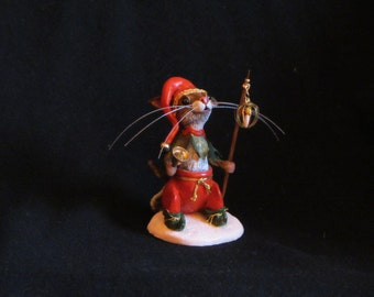 Original Polymer Clay  Mixed Media Sculpture THE TOWN CRIER