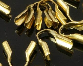 72 pcs 1,2 mm raw brass Crimp, End Cap, Finding, 1,2 mm, Clasp, Necklace, CS1.2