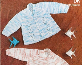 baby matinee coats  vintage baby knitting pattern PDF