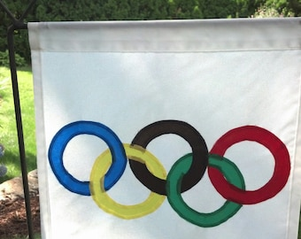 Olympic Rings - Garden Flag