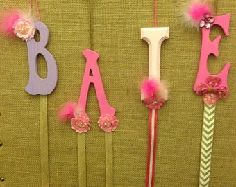 Initial Letter Hairbow holder