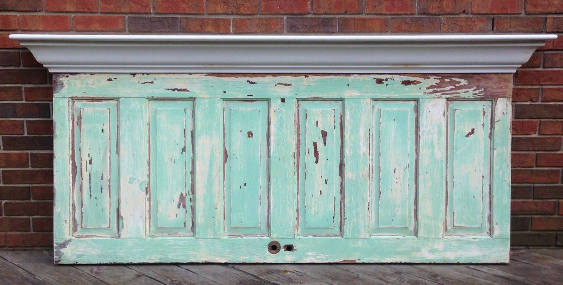 Headboard made from rare antique 6 panel door by - Headboard made from old door ...