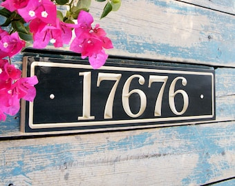 Horizontal House Number Sign