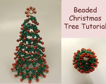 Beaded Christmas Tree Tutorial | Christmas Decor Tutorial | DIY PDF Format
