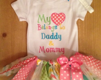 My Heart Belongs to Daddy & Mommy Tutu Outfit