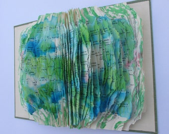 Altered book Sculpture Topographical Book
