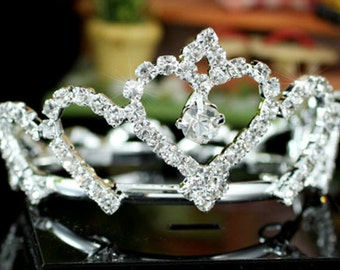 Exquisite Rhinestones Crystal Photo Prop Newborn Baby Tiara Crown (446)