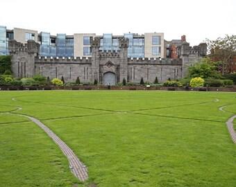 Dublin Castle Photography, Ireland Photography, Irish Art Print, Landscape Photo, Historical Art, Modern Architecture - Past and Present