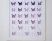 3D Handmade  purple shades  paper Butterflies. Perfect for Home, Nursery, Girls Room.