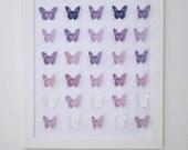 3D Handmade  purple shades  paper Butterflies. Perfect for Home, Nursery, Girls Room.