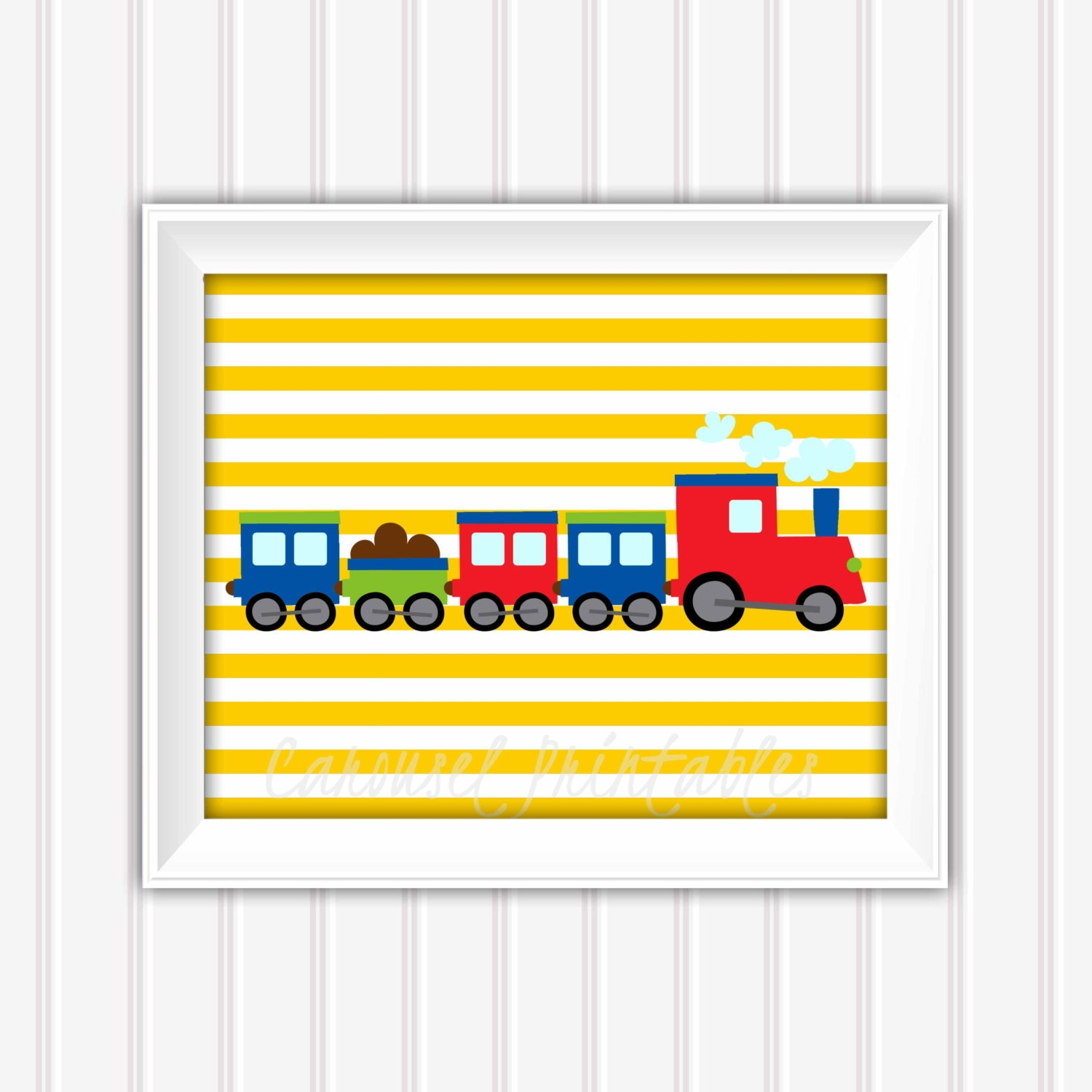 Nursery Wall Decor Transportation : Train wall art transportation decor
