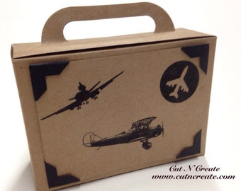 Suitcase Favor Box Suitcase Favor Airplane Suitcase Birthday Favor Multiple Airplanes