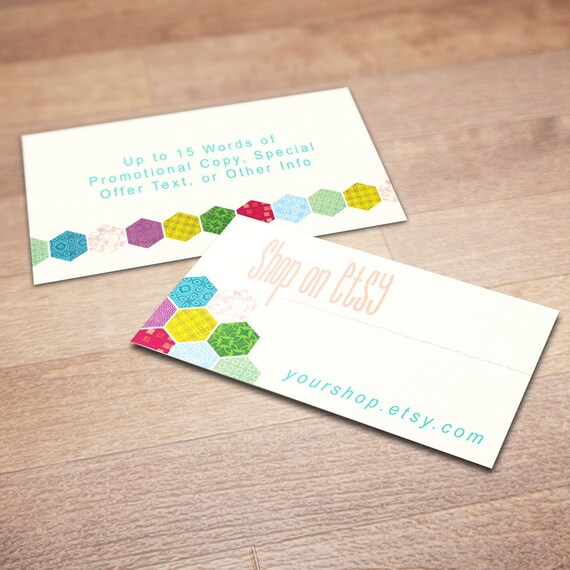 100 custom business cards for promoting your etsy shop patch for Etsy shop business cards