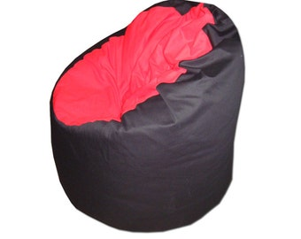 Black-red beanbag chair cover