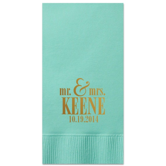 Chocolate brown cocktail napkins personalized with    S monogram style  in Metallic Gold and Metallic