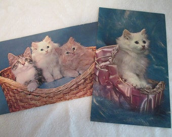 Vintage 1950's Kitten Postcards
