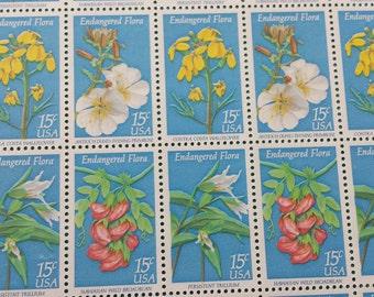 Unused US Postage Endangered Flora Postage Stamps  50 pieces