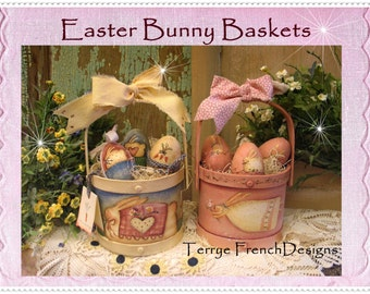 Easter Bunny Baskets, email pattern packet by Terrye French