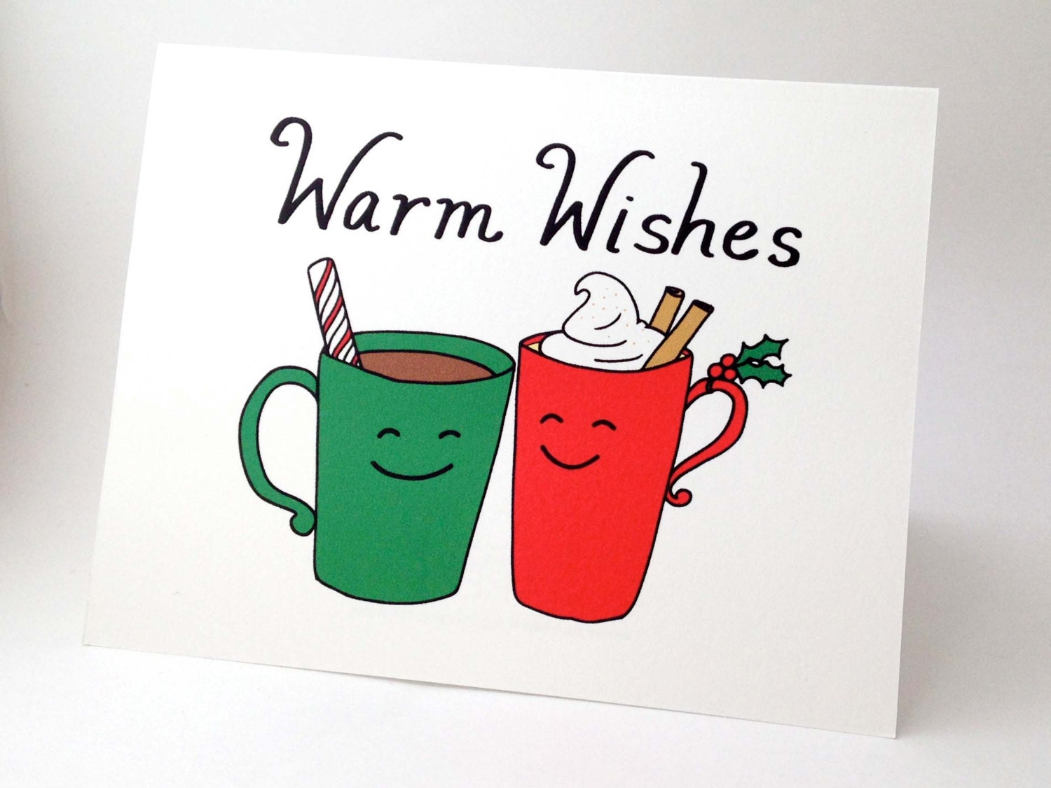 Funny Christmas Card // Punny Happy Holidays Card // Unique