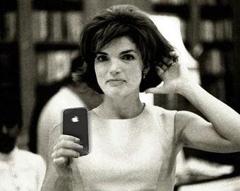 Jackie Kennedy Takes A Selfie - Giclee Print