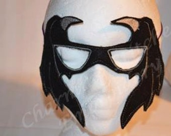 Bat Mask In the hoop embroidery design In the Hoop felt mask 4x4 & 5x7 design