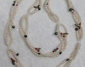 "NK5094 White Freshwater Pearls Clasp less 35"" inches long Necklace Free Shipping"