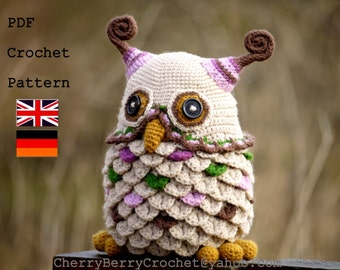 Owl toy or container PDF crochet pattern