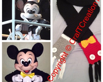 Steamboat Willie & Mickey Mouse inspired Scarf