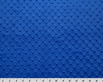 Electric Blue Minky - One Yard - Shannon Fabrics Quality Cuddle Dimple Minky Fabric by the yard