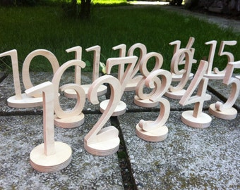 Wooden Table Numbers, Table Numbers, Wedding Table Numbers