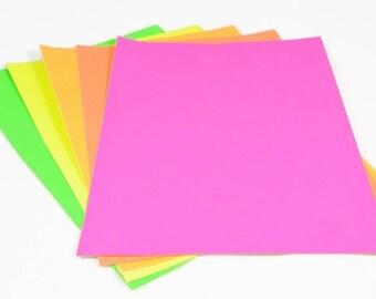 A4 STICKER SHEETS (Set of 5 Sheets) - A4 Fluorescent Neon Sticker Set (21cm x 29.7cm)