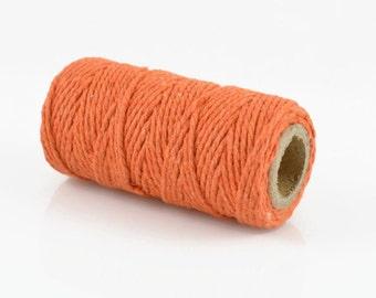 ORANGE BAKERS TWINE - Orange Twisted Cotton String / Bakers Twine (20 meter spool)