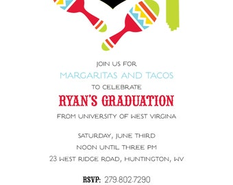 Fiesta Grad Invitation - DIY PRINTABLE