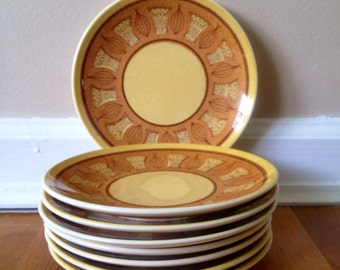 Taylor Smith Taylor Honey Gold Atomic Onion Bread & Butter Plate Set