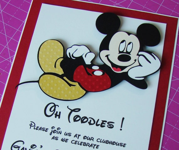 Mickey Mouse Birthday Party Invitations Page Two – Handmade Mickey Mouse Birthday Invitations