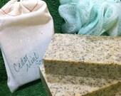 Cedar-Mint Scrub herbal exfoliating handcut bar soap
