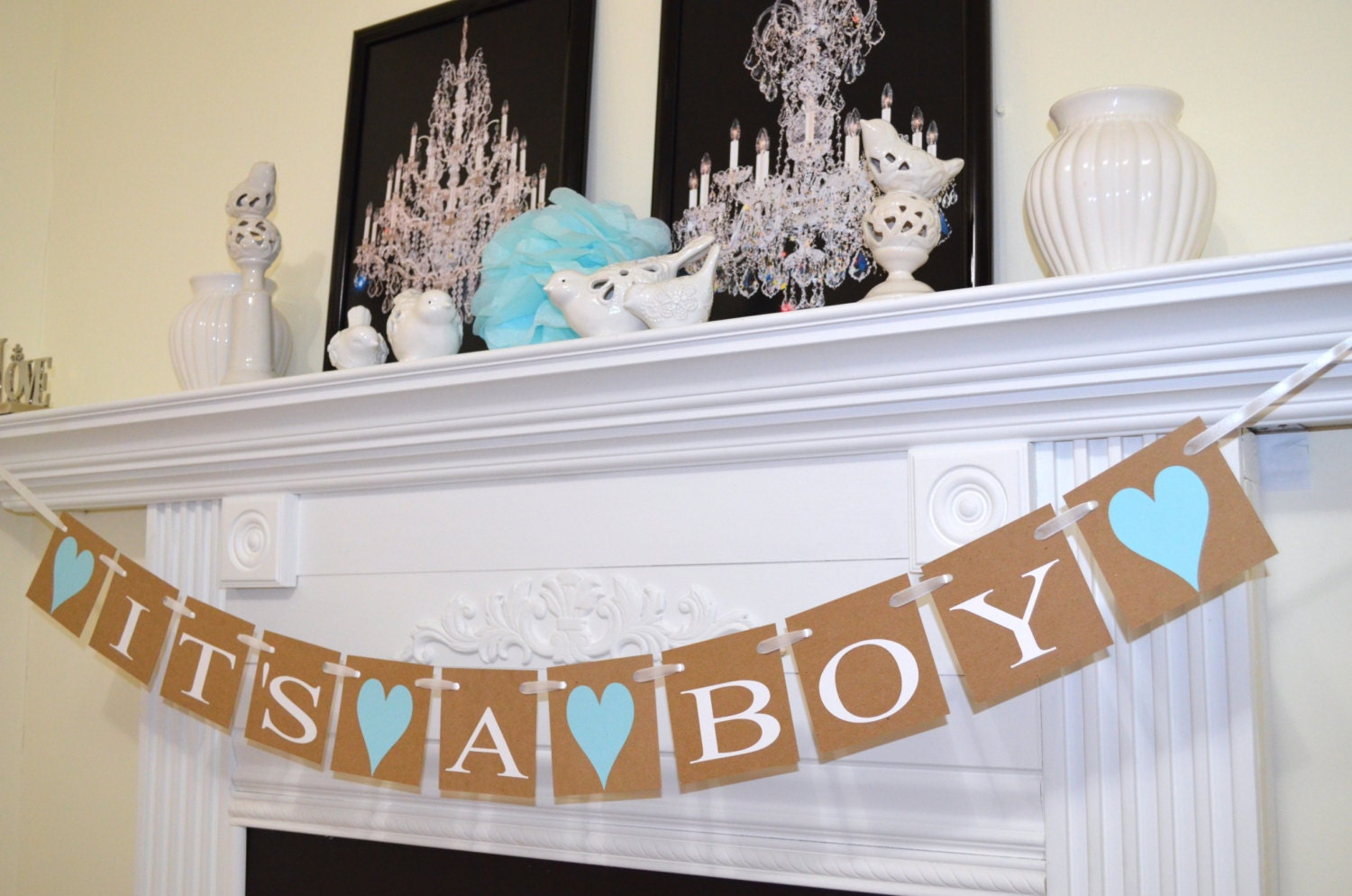 its a boy banner baby shower decorations rustic shower