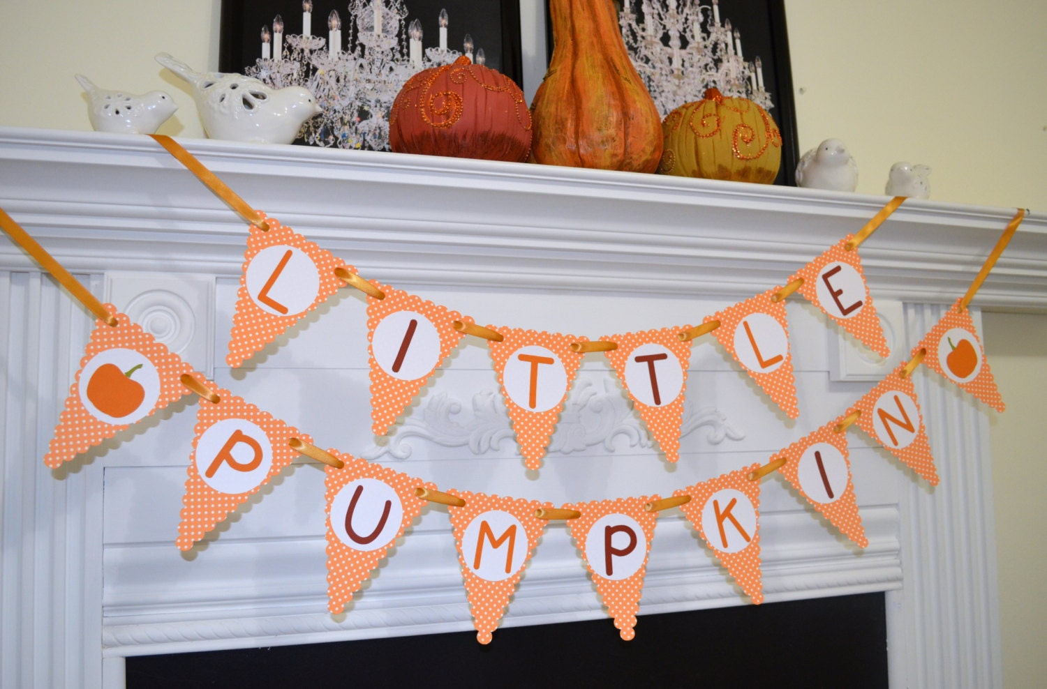 Little Pumpkin Banner Baby Shower Decoration First Birthday