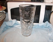 "Vintage Crystal Glass Vase, 10 1/4 "" Tall, WAS 50.00 - 50% = 25.00"