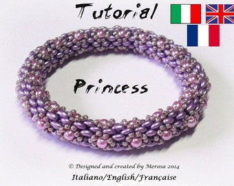 Tutorial Bangle Princess (photo Tutorial in Italian/English/Francaise)